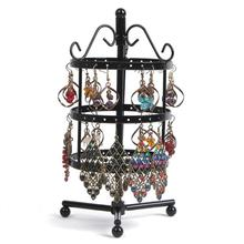 72 Holes Metal Jewelry Rack Necklace / Rings  Holder Organizer Hanging Rotary Display Stand Decor Gift necklace/Jewelry