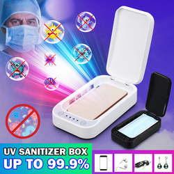 УФ Дезинфекция коробка дезинфицирующее зарядное устройство предотвращает грипп для iPhone/Samsung мобильный телефон маска с наушниками стерилиз...