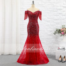 Bbonlinedress красное вечернее платье русалки 2020 Длинные вечерние