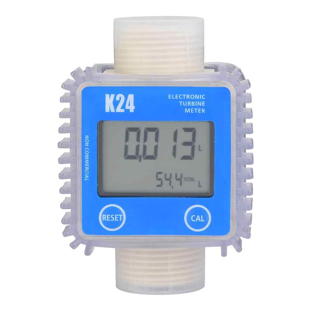 1 Pc K24 Turbine Digital Diesel Fuel Flow Meter Gauge Voor Chemicaliën Vloeibare Water Hot