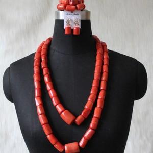 Image 2 - Newest Dudo Jewelry African Bridal Jewelry Sets Orange Original Coral Beads Jewelry Set For Nigerian Weddings Women Free Ship