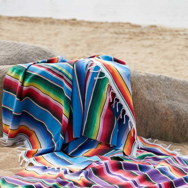 Spiaggia Coperta di Cotone Messicano Fatti A Mano Arcobaleno Coperta Tavolo di Casa Corridore Arazzo Spiaggia Zerbino Picnic Zerbino