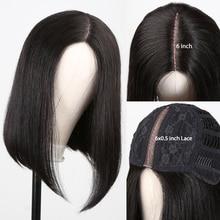 Wigirl bob wig 6x0.5 lace Part human hair