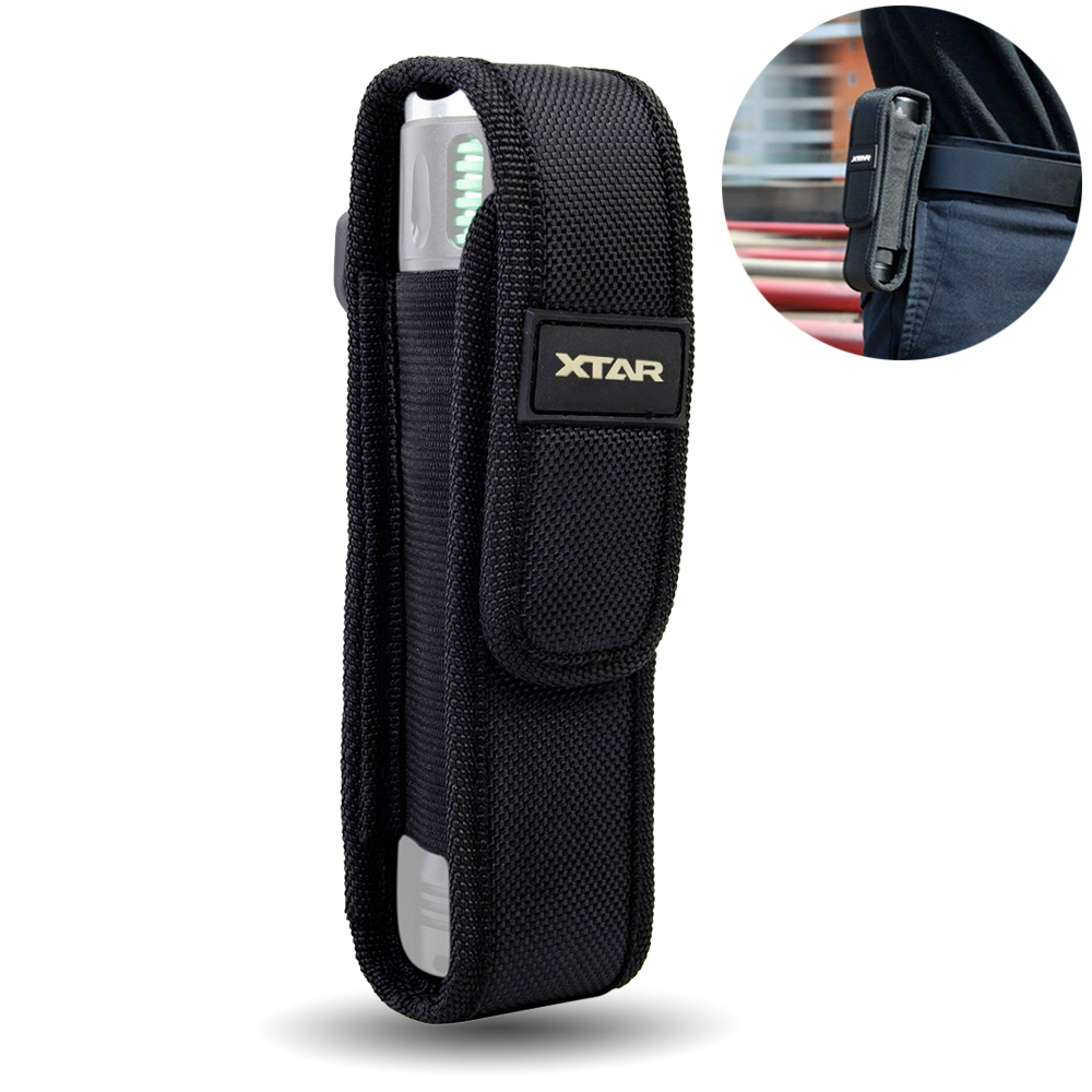 Tactical XTAR T220 Flashlight Pouch LED Torch Holster Case Outdoor Camping Portable Flashlight Holster Black Color