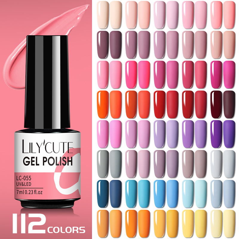 LILYCUTE 7ml Nail Gel Polish Semi Permanent Gel Varnish Base Top Coat UV LED Gel Varnish Soak Off Nail Art Gel Nail Polish|Nail Gel| - AliExpress