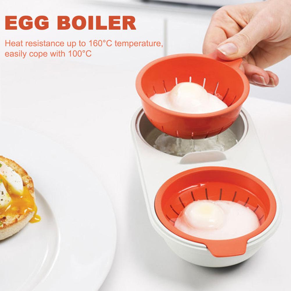 microwave egg poacher food grade kitchen utensils double cup egg steam boiler egg microwave oven cooking tools