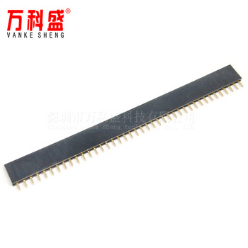 Factory direct sales single row pin header spacing 2.54MM 1*40P single row header row mother image