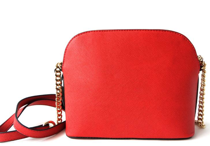 Classic Women's Bag Shell Bag Messenger Bag Metal Chain Bag Cross Pattern Leather Bag Luxury Handbag