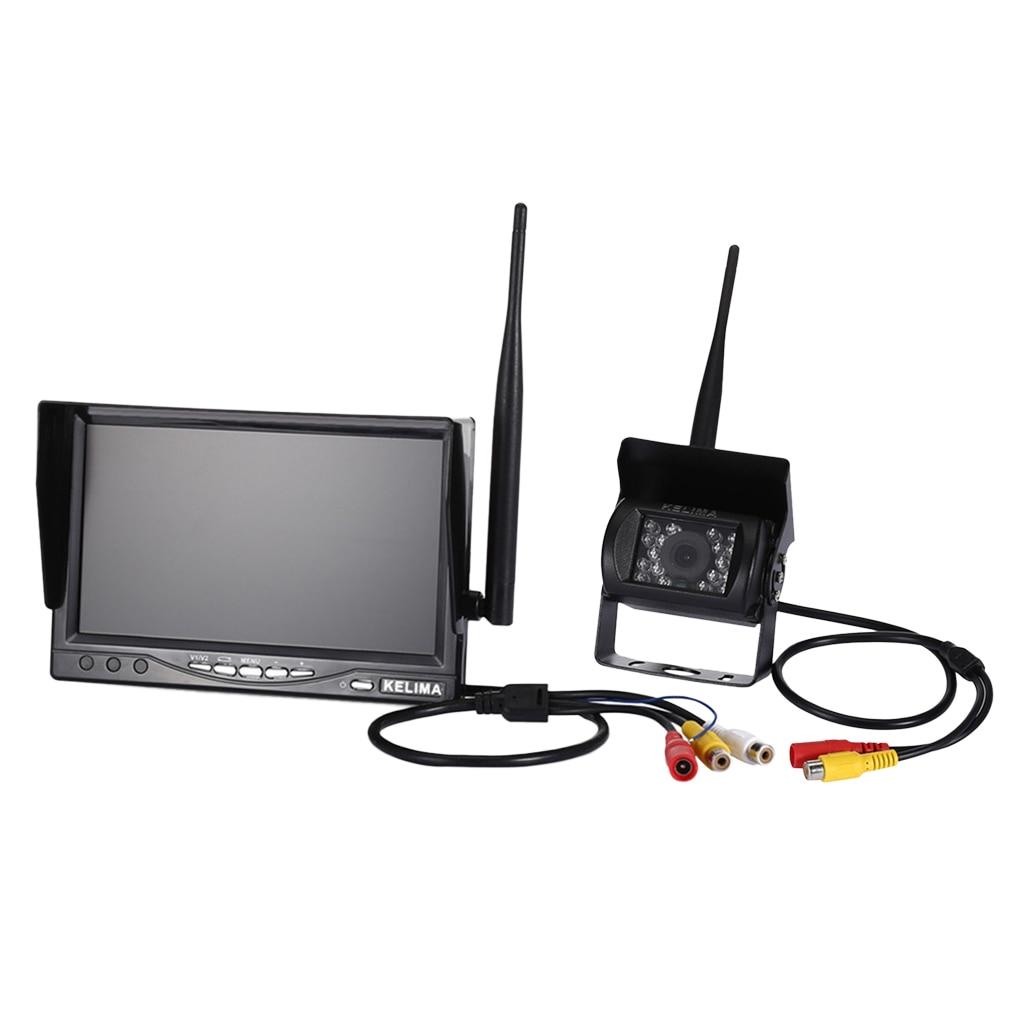 Moniteur d'affichage de rétroviseur de voiture MagiDeal 7 + caméra HD de sauvegarde - 6