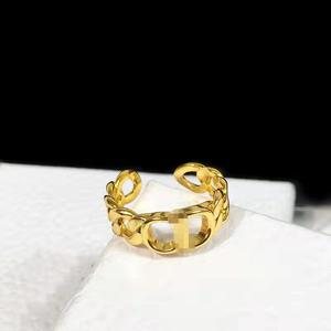 Новые простые и регулируемые кольца в стиле ретро с буквами CD для мужчин и женщин, стильные ювелирные украшения в виде ушей пшеницы