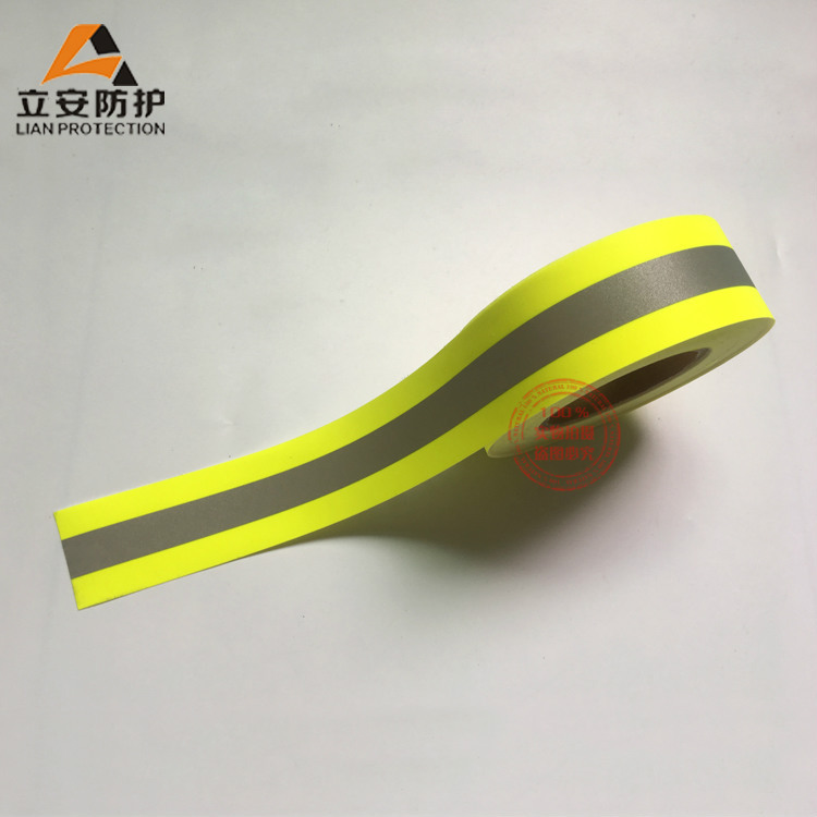 Manufacturers Direct Selling Bright Silver Flame Retardant Reflective Cloth Flame Retardant Reflective Warning Tape Firefighter