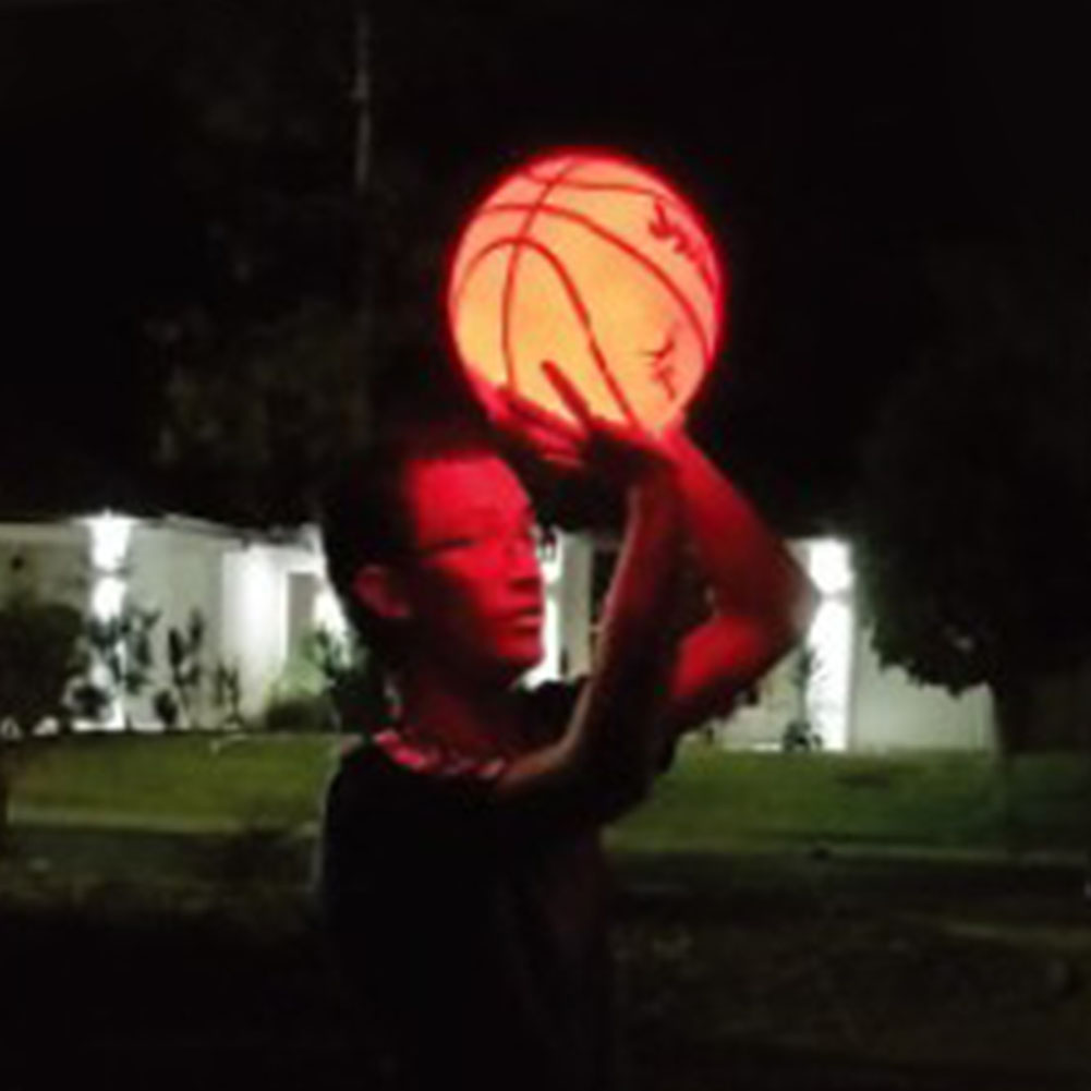 Light Up Basketball High Brightness LED Growing Rubber Basketball For Training Freestyle Performances
