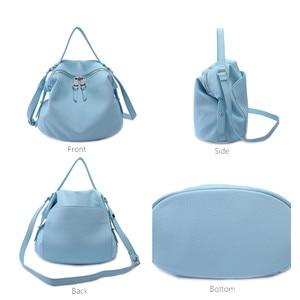 Image 4 - Crossbody torby dla kobiet czarne skórzane 2019 projektant wysokiej jakości PU Hobo torebki dla dziewczyna różowy kolor miękkie torba na ramię torebka