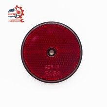 Aohewei vermelho refletor traseiro redondo reflexivo para postos de porta refletores segurança parafuso fix no reboque da motocicleta caravana caminhão barco