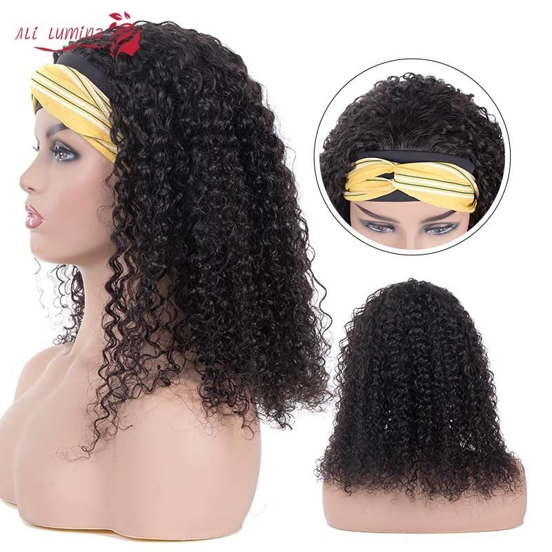 Wigs Headband Wig Kinky Curly Wig Glueless Affordable   Hair Beginner Friendly Full Machine Made Wig 2