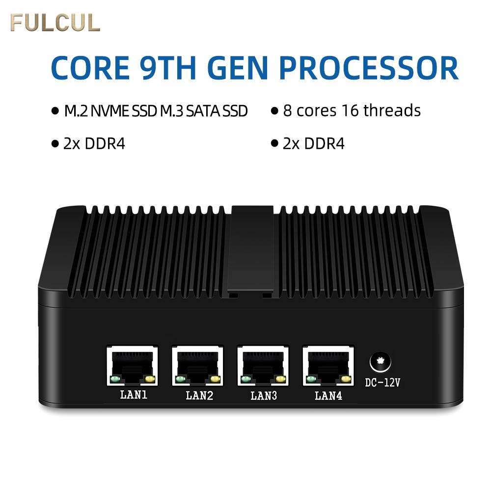 Fanless Mini PC Firewall PFsense Router Intel Celeron J1900 J1800 4*LAN Gigabit Ethernet Network Server Desktop Computer NUC