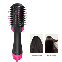 1000W Hair Dryer Brush Hair Dryer And Volumizer Hair Straightener Hair Curler Comb Roller One Step Electric Ion Blow Dryer Brush