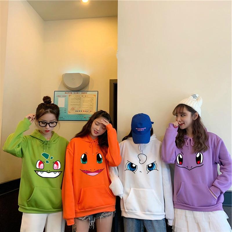 Kawaii Japanese Anime Cartoon Print Hoodies For Women Sweet Girl Streetwear All-match Hoody Suit 2020 Spring Pullovers