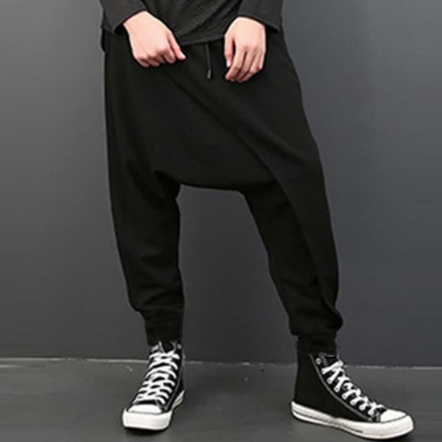 Drape Drop Crotch Baggy Dancing Pants 8
