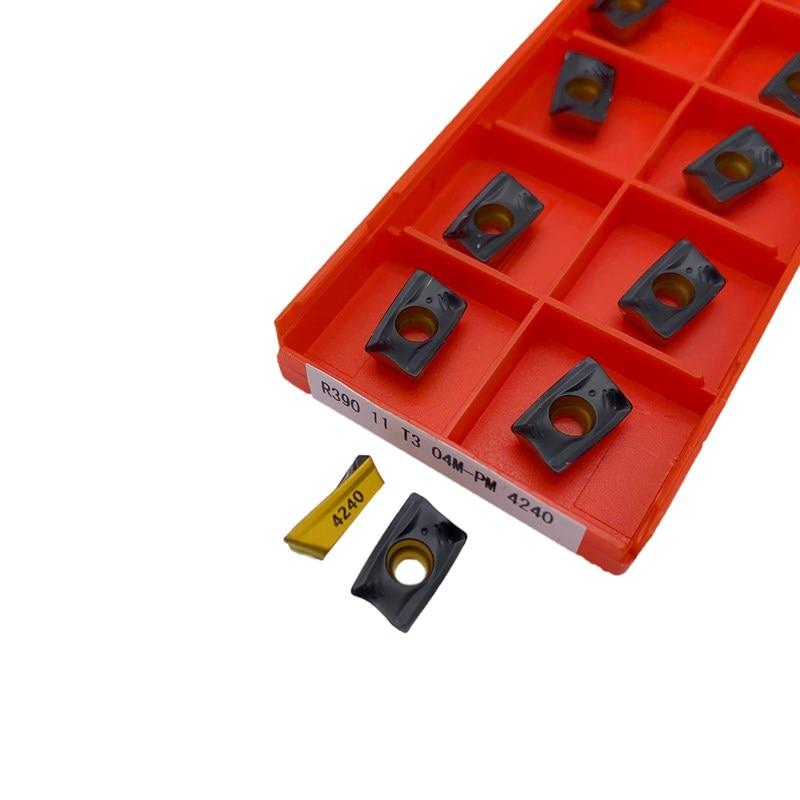 10pcs R390-180612M-PM 1030 carbide inserts milling cutter inserts cutting tools