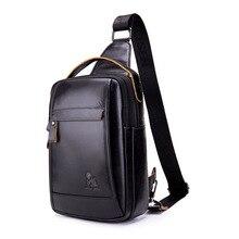 Genuine Leather Casual Sling Chest Pack  Men's Crossbody Shoulder Bags Men Cowhide Messenger Bag Male Travel Top-Handle Handbag цены