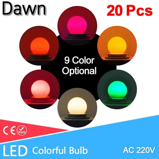 Led Bulb E27 led Lamp Bomlillas AC 220V 3W Colorful Globe Lampada 2835 SMD Led Light Flashlight 3W G45 Led Home lighting 20pcs