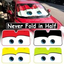 4 cores bonito dos desenhos animados olhos pára brisa do carro pára sol janela auto pára brisas capa sun sombra carro tampas de proteção solar do carro