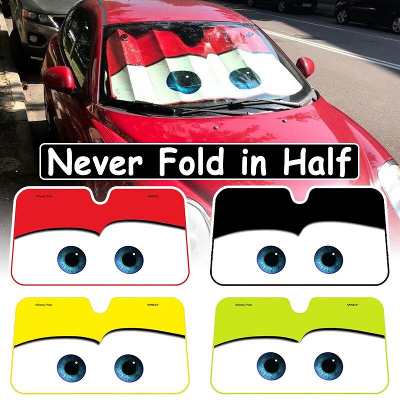 4 farbe Nette Cartoon Augen Auto Windschutzscheibe Sonnenschirm Auto Fenster Windschutz Abdeckung Sonnenschutz Auto-deckt Auto Solar Schutz