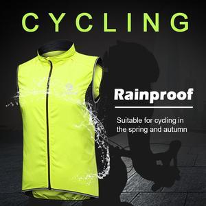 Image 5 - X TIGER Windproof Cycling Vest Rainproof Sleeveless Reflective Safety Vest MTB Bike Jacket Outdoor Sport Quick Dry Rain Jacket