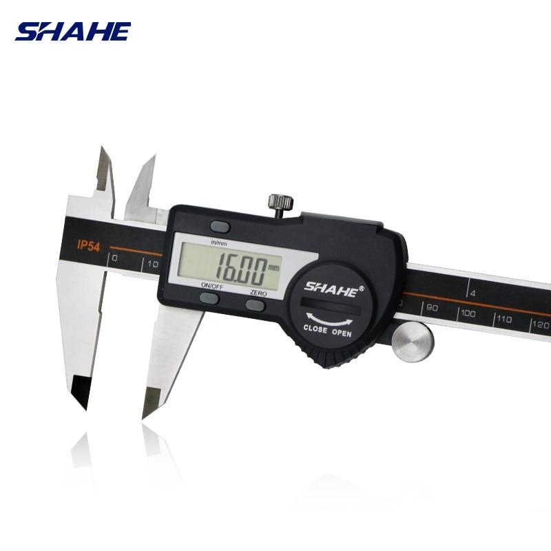 Frete grátis shahe aço inoxidável endurecido 0-150mm digital caliper messschieber caliper eletrônico vernier micrometro