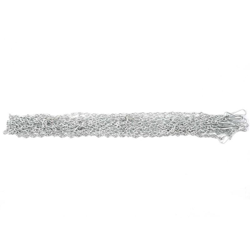 Rede de Aço Forte e Robusto para Cesta ao ar Alta Qualidade Durável Tamanho Padrão Basquete Net Galvanizado Metal Rede Livre