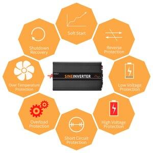 Image 4 - LCD Inverter 12V 220V 1000/2000W Voltage Transformer Pure Sine Wave Power Inverter DC12V to AC 220V Converter