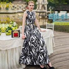 Платье женское длинное без рукавов элегантное модное винтажное