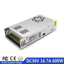 単一出力スイッチング電源 600 ワット 36 v 48 v 60 v dc 電源 led ドライバトランス 110 12v 220v AC DC cnc cctv モーター