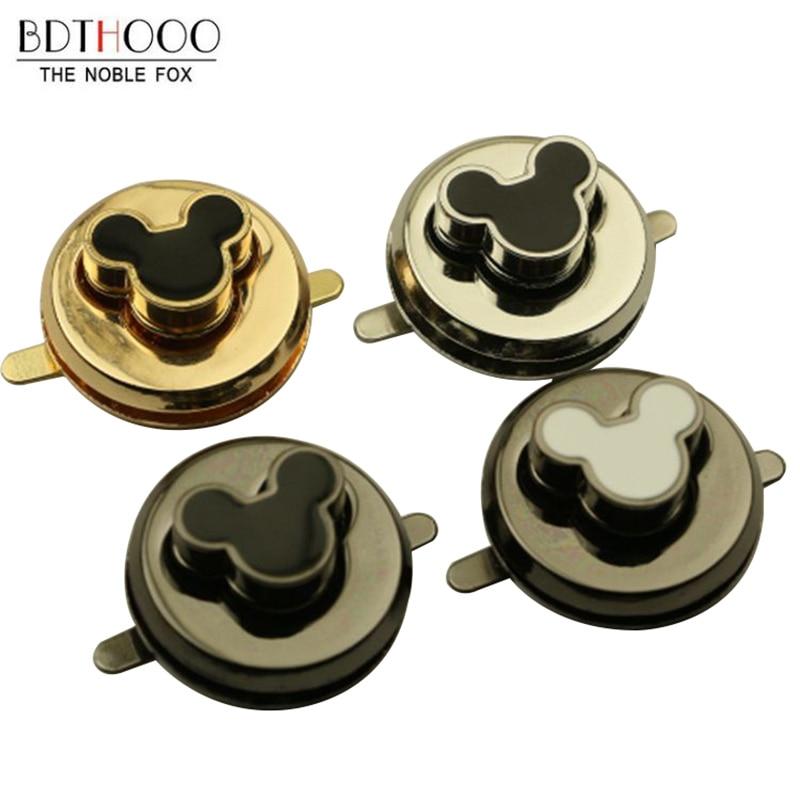 4 Color 1Pcs Round Turn Lock Parts  Metal Clasp Twist Lock For DIY Bag Purse Hardware Closure Accessories For Bag