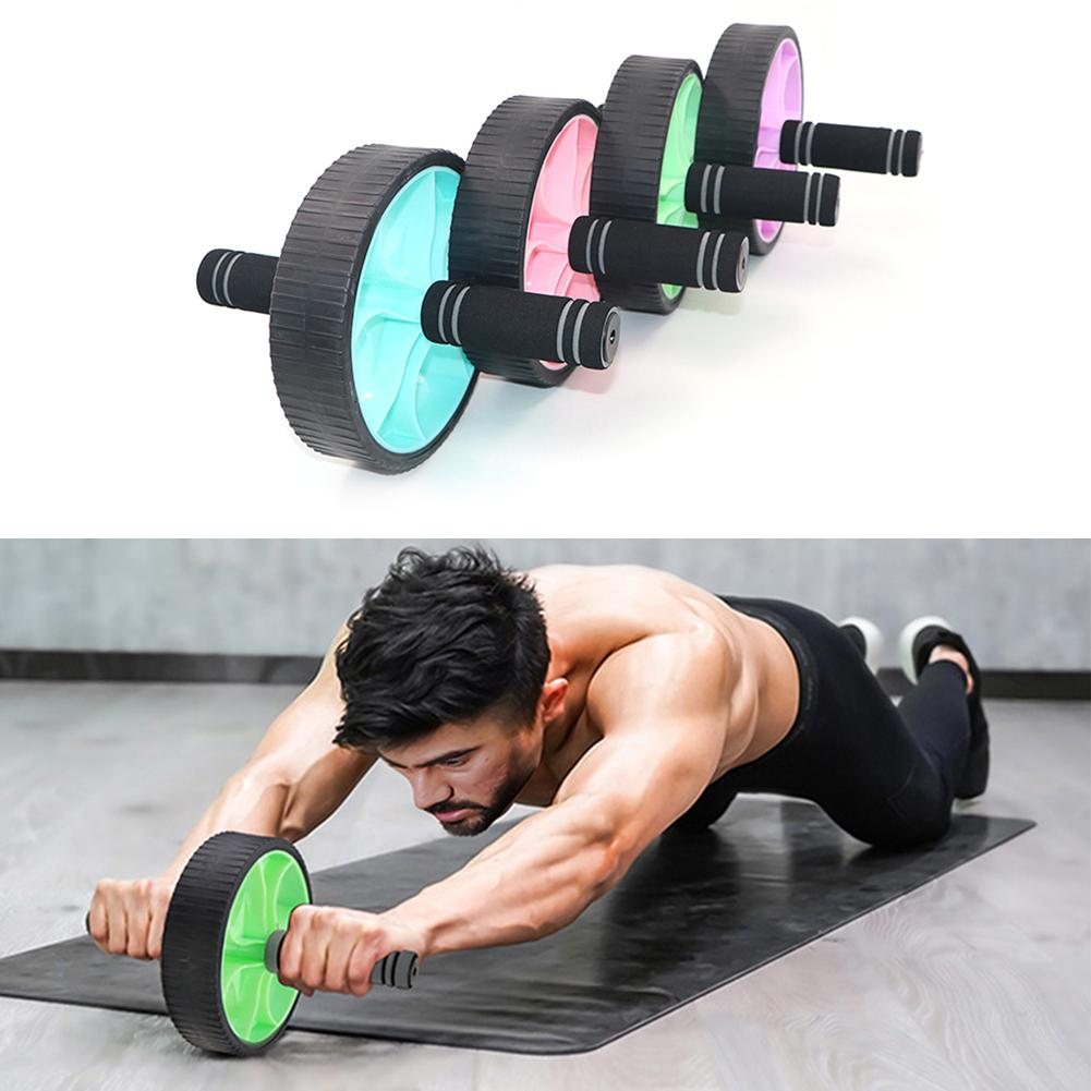 Durable Ab Rollers Classic Delicate Texture Abdominal Wheel Roller CrossFit Fitness Sports Exercise Equipment Tool For Gym