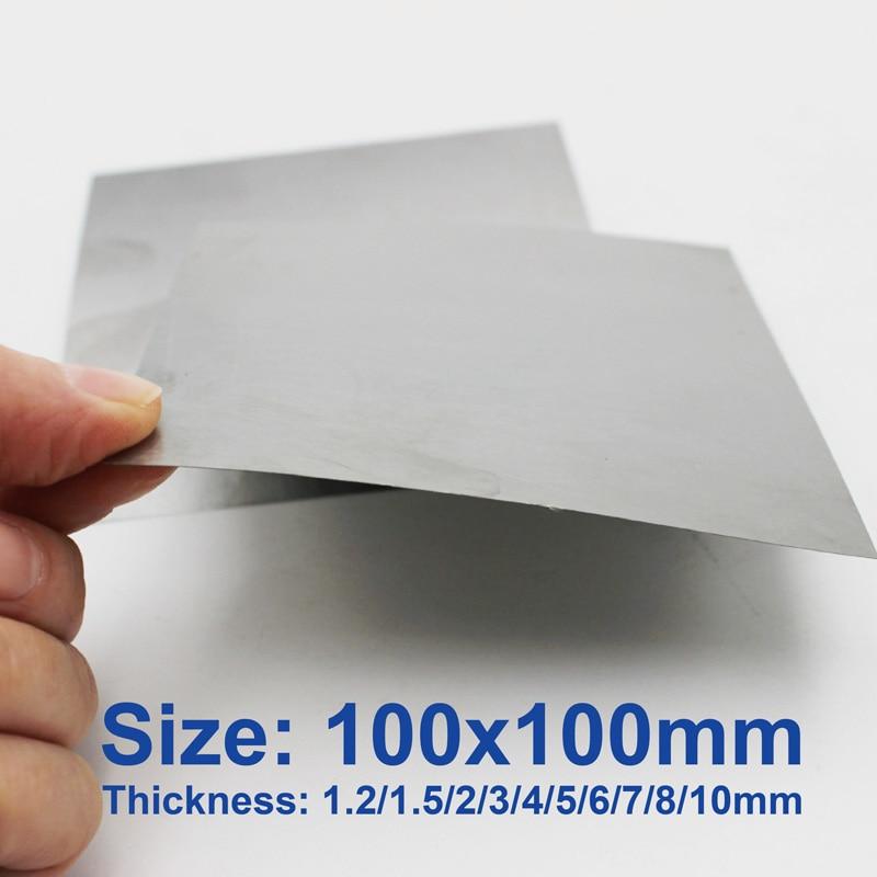 99.99% Pure Tungsten Plate Sheet