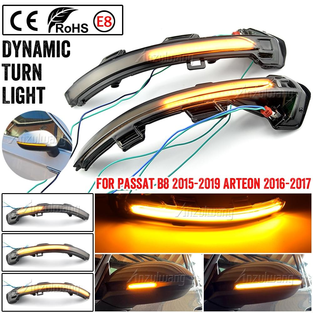 Превосходная светодиодный мигалка динамический сигнал поворота светильник боковые зеркала заднего вида светильник для Volkswagen VW Passat B8 2015-2020 ...