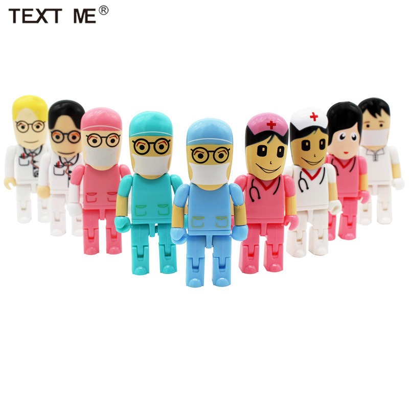 TEXT ME 64GB Doctors USB Stick Usb 2.0 USB Flash Drive Pen Drive 4GB 8GB 16GB 32GB Memory Stick