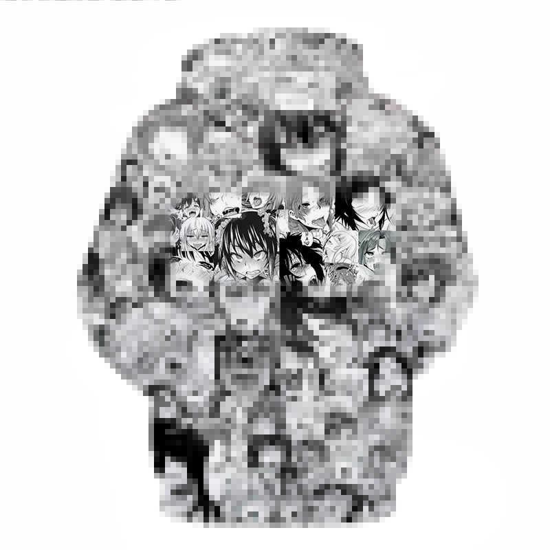 Sudadera con capucha para hombre, Anime Ahegao, con estampado de moletom 3d, Sudadera con capucha completa, Pullovers de marca, anime, chándales casuales, sudaderas con barco, ZOOTOP BEAR