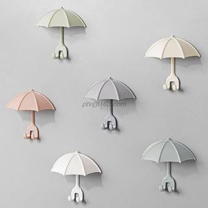 Shelf-Organizer Toothbrush-Holder Razor Umbrella Wall-Hanger Shaving-Shaver Cute 3pcs