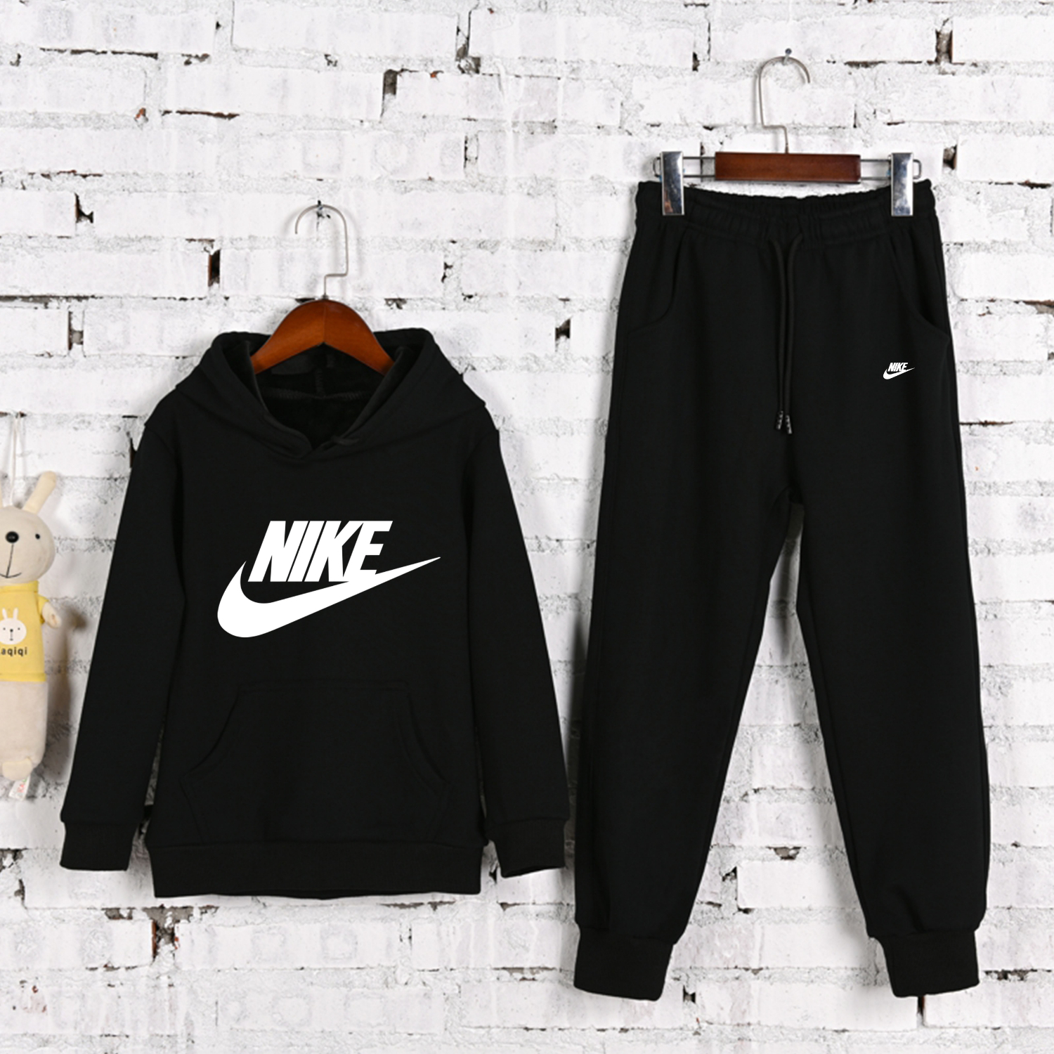 Nike New Winter Children Clothing Kids Cartoon Letter Casual Sports Tracksuits 2pcs/Set Infant Outfit Kids  Hoodies