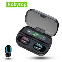 Q82 auriculares TWS, inalámbricos por Bluetooth, auriculares manos libres para teléfonos Android iOS