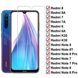Закаленное стекло 9H для Xiaomi Redmi 8 8A 7 7A 6 6A K20 K30, защитная пленка для экрана Redmi Note 8T 8 7 6 Pro, защитное стекло