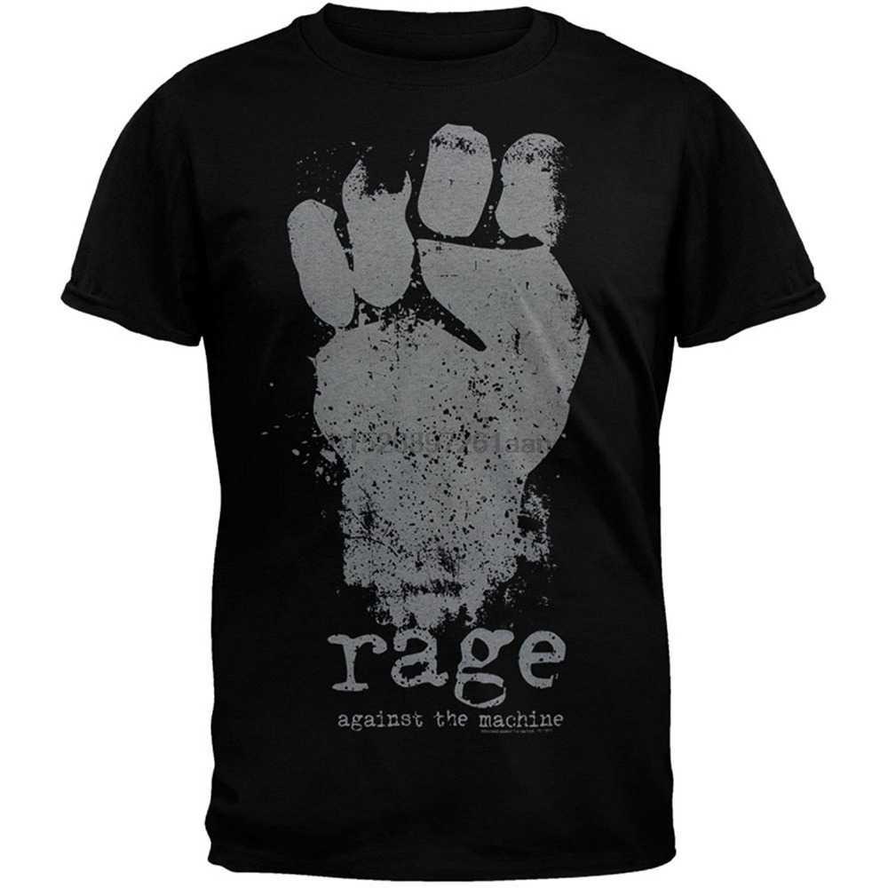 2020 neue Reine Baumwolle Ärmeln Hip Hop Mode T Hemd Wut Gegen Die Maschine-Faust Crew Neck Männer Kurze hülse Büro T