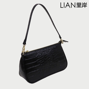 Shoulder Bag Small Bag Baguette Bag Messenger Chain Underarm Bag Crocodile Pattern Women's Leather Bags