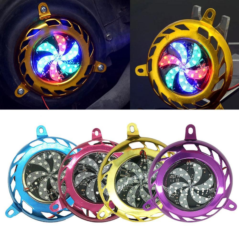 80% Hot Sell Motorcycle Motorbike Scooter Engine Cooling Fan Cover with Colorful Strobe Light