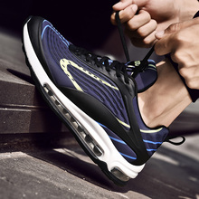 Men S Breathable Runningรองเท้ารองเท้าผ้าใบกลางแจ้งแสงสีเทาBreathableสวมใส่Shockสีดำรองเท้าผู้ชายรองเท้า