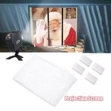 Movie Foldable Display Cloth Window Movie Projector Screen Christmas Halloween
