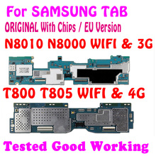 100% оригинальная материнская плата для Samsung Galaxy Note 10,1 N8000 N8010 для Samsung Galaxy Tab S T800 T805, логическая плата с чипами MB